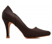 Hazel Dark Brown Leather Working Shoes