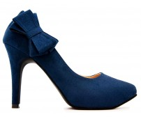 Carmen Blue Suede Working Shoes