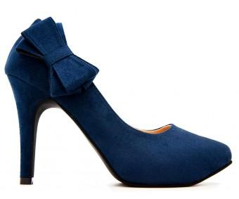 Carmen Blue Suede Working Shoes
