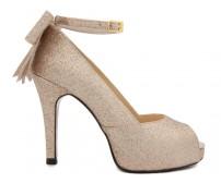 Dayna Glitter Gold Dinner Shoes