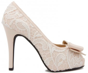 (Sold out, custom made is available)Jacey White Lace And Silk Wedding Shoes(Ready Stock)