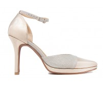 Eloise Silver Glitter Contrast Dinner Shoes
