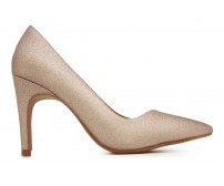 z(Sold out, custom made is available)Rachel Rose Gold Glitter Dinner Shoes (Ready Stock)