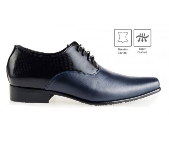 Vincenzo Black With Blue Leather Custom Made Men's Shoes