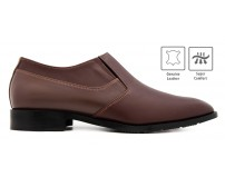 Antonio Dark Brown Leather Costom Made Men's Shoes