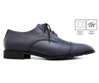Samuel Blue Leather Custom Made Men's Shoes