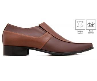 Samson Dark Brown Leather Custom Made Men's Shoes