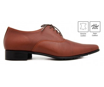 Thomas Litchi Grain Leather Custom Made Men's Shoes.