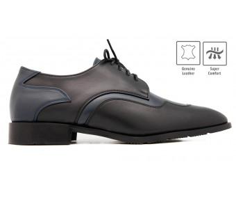 Tommason Black Leather Custom Made Men's Shoes