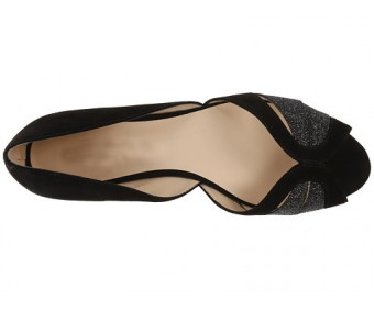 Antonia Black PU Dinner Flats