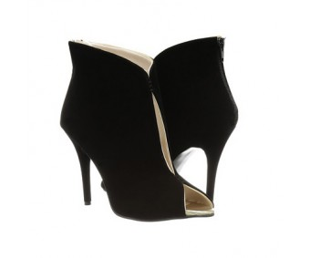 Clea Black Suede Ankle Boots