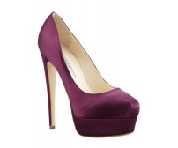 Cynthia Purple Silk Casual Shoes