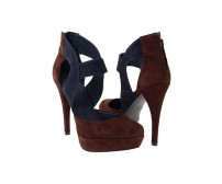 Katya Blue and Brown Suede Casual Sandals