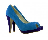 Clarice Contrast Blue Suede Casual Shoes