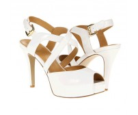 Kerry White Colour Casual Sandals