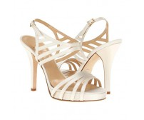 Daniella Ivory White Satin Casual Sandals