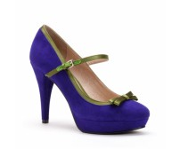 Luciana Purple Suede Casual Shoes