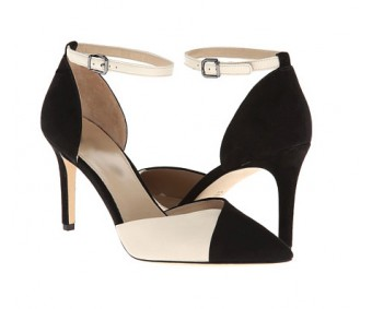 Carlynn Black and White Contrast Casual Shoes