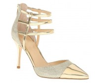 Griselda Gold and Silver Contrast Dinner Shoes