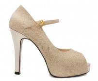 Carmela Gold Glitter Dinner Shoes