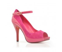 Stella Pink Leather Suede Dinner Shoes