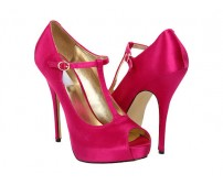 Portia Fuchsia Satin Dinner Shoes