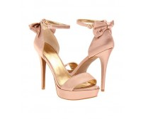 Janessa Pink silk Dinner Sandals