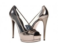 Caryl Metallic Grey Dinner Shoes