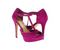 Cherita Purple Suede Dinner Sandals