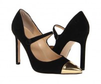 July Black And Gold Contrast Dinner Shoes