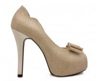 Anya Gold Glitter Wedding Shoes