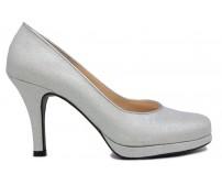 Tiffany Silver Glitter Wedding Shoes