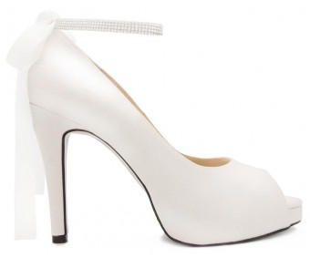 Danielle Ivory White Satin Wedding Shoes