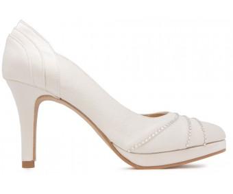 Giselle Ivory White Satin Swarovski Rhinestone Wedding Shoes