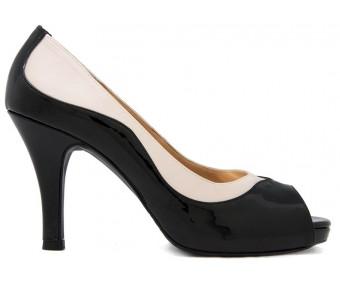 Ariel Black PU Casual Walk Shoes