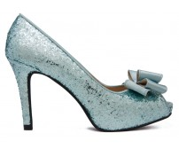 Eleanor Tiffany Blue glitter dinner shoes
