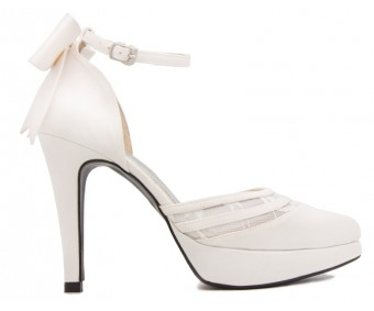 Cammy Ivory White Silk  Wedding Shoes