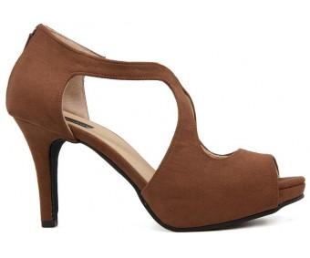 Alexa Brown Suede Casual Sandals