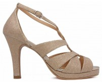 Aggie Gold Glitter Casual Sandals