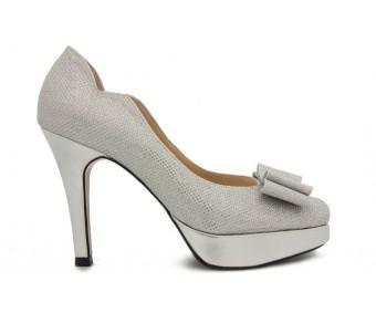 Anya Silver Glitter Wedding Shoes