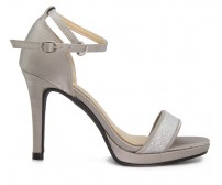 (-30% OFF) Flavia Silver Silk Dinner Shoes (Ready Stock)