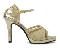 Yennie Gold Glitter Wedding Sandals