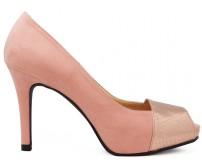 Julisa Pink Suede Metallic Skin Contrast Casual Shoes
