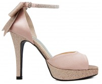 Carolyn Nude Pink Diamante Wedding Sandals