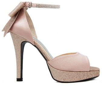 Carolyn Nude Pink Diamante Wedding Sandals