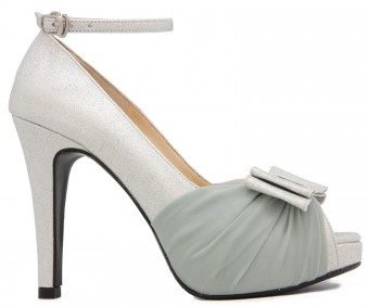 Abbie Silver Glitter Wedding Shoes
