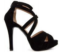 Tammy Black Suede Sandals