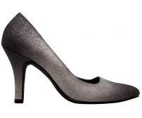 * Stardust Black And Silver Gradient PU Dinner Shoes