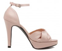 * Naomi Nude Pink Satin Wedding Shoes