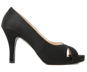 Adriel Black Satin Casual Shoes